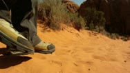 Stock Video Footage of Hiker in the Desert