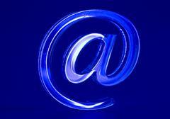 symbol  e-mail. - stock photo