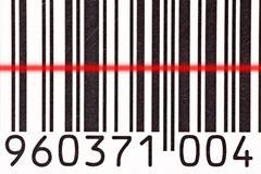 Barcode reader scanning a bar code Stock Photos