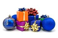 Stock Photo of christmas baubles and gifts