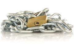 Stock Photo of chain and padlock