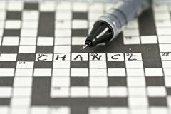 """Crossword with word """"chance"""" Stock Photos"""