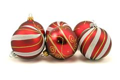 Stock Photo of set of christmas baubles