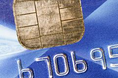 close up view of a credit card - stock photo