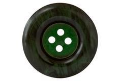 dark green clothes button - stock photo
