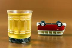 Stock Photo of drink and drive concept