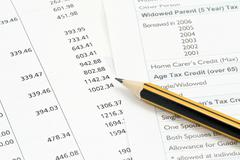 Financial accounting background Stock Photos