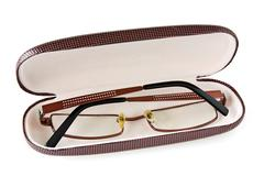 glasses in the case - stock photo