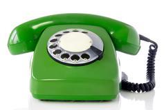 Stock Photo of green retro telephone