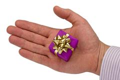 Stock Photo of hand with gift