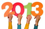 Stock Photo of hands with numbers shows year 2013