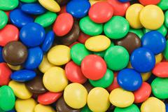 Stock Photo of background of multicolored candy
