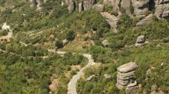 Roussanou monastery view (Meteora valley) _1 Stock Footage