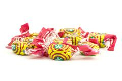 Colorful caramel sweets Stock Photos