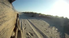 Off road driving in sand on a beach. Stock Footage