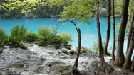 Stock Video Footage of Waterfall and Lake