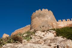 Alcazaba of Almeria Stock Photos