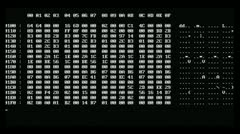 Computer screen data decryption - stock footage