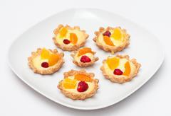 delicious cream tart - stock photo