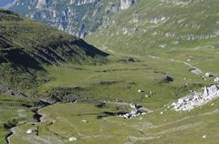 carpathian valley - stock photo