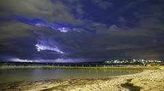 Sydney Lightning Storm Time lapse - stock footage