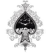 Luonnos tatuointi art, heimojen suunnittelu Piirros