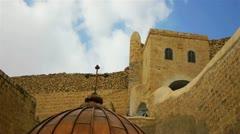 Saint Savas monastery near Jerusalem, Israel Stock Footage