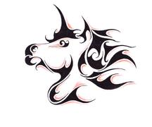 Stock Illustration of sketch of tattoo art, horse