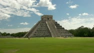 Stock Video Footage of Kukulkan Pyramid Chichen Itza lock-down