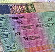 schengen visa for ukrainian citizen, europe travel - stock photo