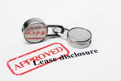 Lease disclosure Stock Photos