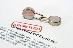 Assignment of contract Stock Photos