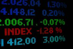 Stock market index Stock Photos