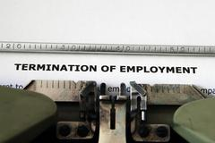 termination of employment - stock photo