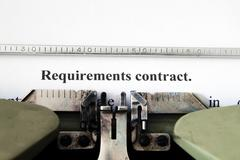 requirement contract - stock photo