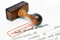 sale of real property form - stock photo