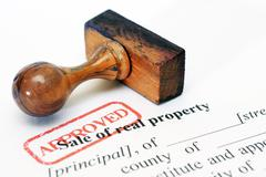 Stock Photo of sale of real property form
