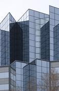 angular glass exterior - stock photo
