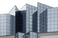Angular glass office building exterior Stock Photos
