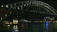 Stock Video Footage of sydney harbour at night