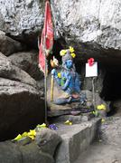 Stock Photo of shiva guards entrance to a cave shrine
