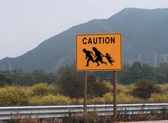 Stock Photo of immigrant crossing