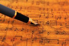 music sheet - stock photo