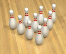 bowling excitement - stock illustration