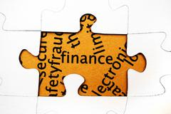 Finance puzzle concept Stock Photos