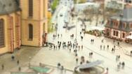 Frankfurt square Stock Footage