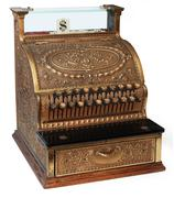 Stock Photo of old fashioned cash register, isomorphic view