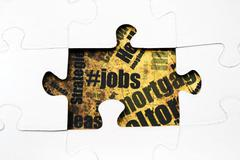 jobs puzzle concept - stock photo