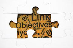 objectives puzzle concept - stock photo
