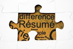 Resume puzzle concept Stock Photos